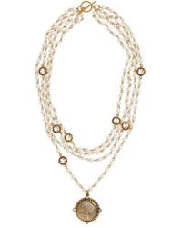 Virgins, Saints & Angels - San Benito Magdalena Imitation Pearl Necklace (nordstrom Exclusive) - Lyst