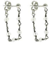 Adornia - Rosary Drop Earrings - Lyst