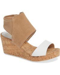 Pelle Moda - Katt Wedge Sandal - Lyst