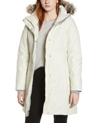 The North Face Arctic Ii Waterproof 550 Fill Power Down Parka With Faux Fur Trim - White