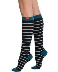 VIM & VIGR - Nautical Stripe Graduated Compression Trouser Socks - Lyst