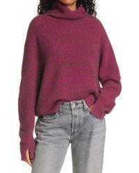 Rag & Bone Pierce Cashmere Turtleneck Sweater - Purple