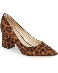 Marc Fisher Women's Zalaly Leopard Print Calf Hair Pumps - Brown