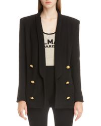 Balmain - Oversize Double Breasted Blazer - Lyst