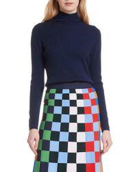 Tory Sport - Ribbed Merino Wool Blend Turtleneck Sweater - Lyst