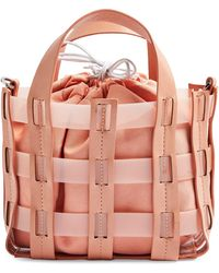 TOPSHOP Gala Faux Leather Satchel - Pink