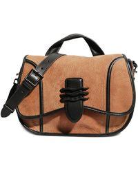 Aimee Kestenberg Fierce & Fab Leather Saddle Bag - Multicolor