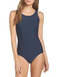 Amoena Rhodes Pocketed One-piece Swimsuit - Blue