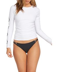 Volcom Simply Core Long Sleeve Rashguard Top - White