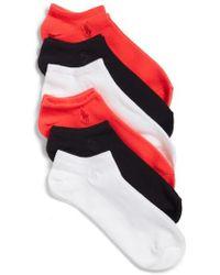 Ralph Lauren - 6-pack Ankle Socks, White - Lyst
