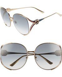 a8f53b7c43a9 Lyst - Roberto Cavalli Mimosa Snake-temple Aviator Sunglasses in ...