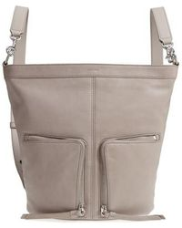 AllSaints - Fetch Small Leather Backpack - Lyst