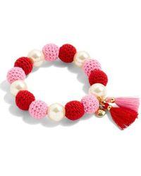 J.Crew - Crochet Bead & Glass Pearl Bracelet - Lyst