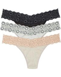 Hanky Panky - 3-pack Jersey Low Rise Thongs - Lyst
