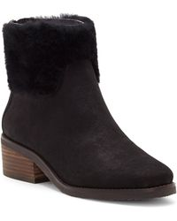 957045307006 Lucky Brand - Tarina Genuine Shearling Cuff Bootie - Lyst