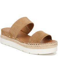Sarto Cappy Wedge Slide Sandal - Brown