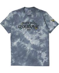 Parks Project X National Geographic Butterfly Tie Dye Graphic Tee - Blue