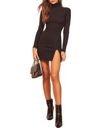 Reformation Libra Long Sleeve Minidress - Multicolour