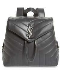 Saint Laurent - Small Loulou Quilted Calfskin Leather Backpack - Lyst