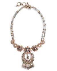 Marchesa - Drama Crystal Pendant Necklace - Lyst