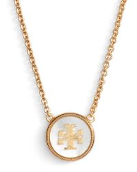Tory Burch - Semiprecious Pendant Necklace - Lyst