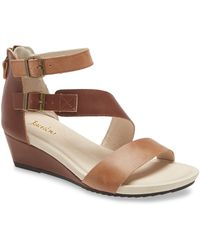 Jambu Capri Colorblock Leather Wedge Sandals - Brown