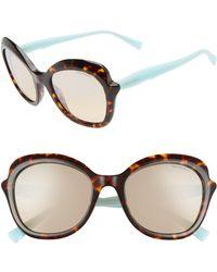 116d654a93ff4 Tiffany   Co. - Paper Flowers 54mm Gradient Round Sunglasses - Havana  Gradient Mirror -
