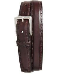 John Varvatos - Pickstitch Feather Edge Leather Belt - Lyst