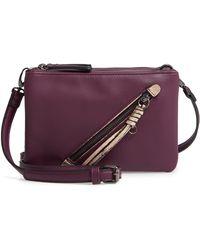 Sondra Roberts - East/west Faux Leather Crossbody Bag - Purple - Lyst