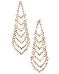 Nina | Crystal Chandelier Earrings | Lyst