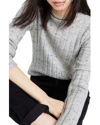 Madewell Donegal Evercrest Coziest Yarn Turtleneck Sweater - Gray