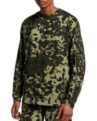 X Matthew Williams Beryllium Camo Long Sleeve T shirt Green