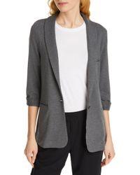 Soft Joie 'neville' Knit Blazer - Gray