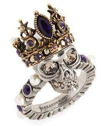 Alexander McQueen - Skull Queen Ring - Lyst