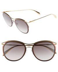 Alexander McQueen - 54mm Gradient Round Sunglasses - Lyst