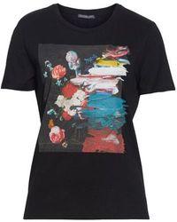 Alexander McQueen - Paint Smudge Graphic Tee - Lyst