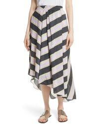 Apiece Apart - Turkanna Linen & Silk Asymmetrical Skirt - Lyst
