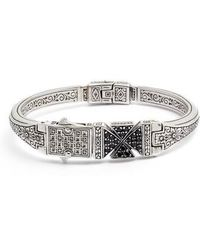 Konstantino - Stavros Spinel Cross Cuff Bracelet - Lyst