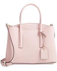 Kate Spade Medium Margaux Leather Satchel - Pink