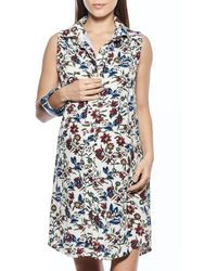 Imanimo - Button Down Maternity Shirtdress - Lyst