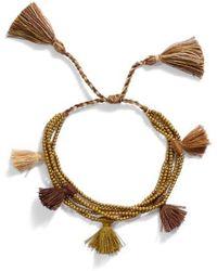 Serefina - Dacing Tassel Bracelet - Lyst