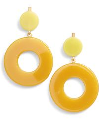 Madewell Circle Statement Earrings - Yellow