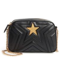 Stella McCartney - Mini Star Quilted Faux Leather Camera Bag - Lyst