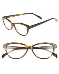 Corinne Mccormack - 'marge' 52mm Reading Glasses - Dark Brown - Lyst