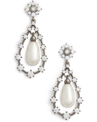 Nadri - Simulated Pearl Drop Earirngs - Lyst
