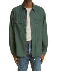 Visvim Lumber Check Flannel Button-up Shirt - Green