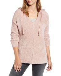Caslon Caslon Off-duty Sweater Hoodie - Pink