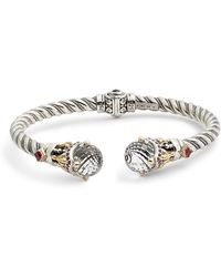 Konstantino - Pythia Crystal Cable Hinge Cuff - Lyst