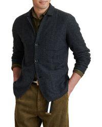 Alex Mill Herringbone Merino Wool Blazer - Gray