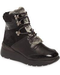 Hispanitas Raevyn Faux Fur Trim Boot - Black